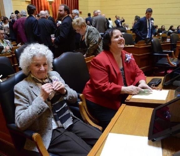 Ajello, left, in the House chamber