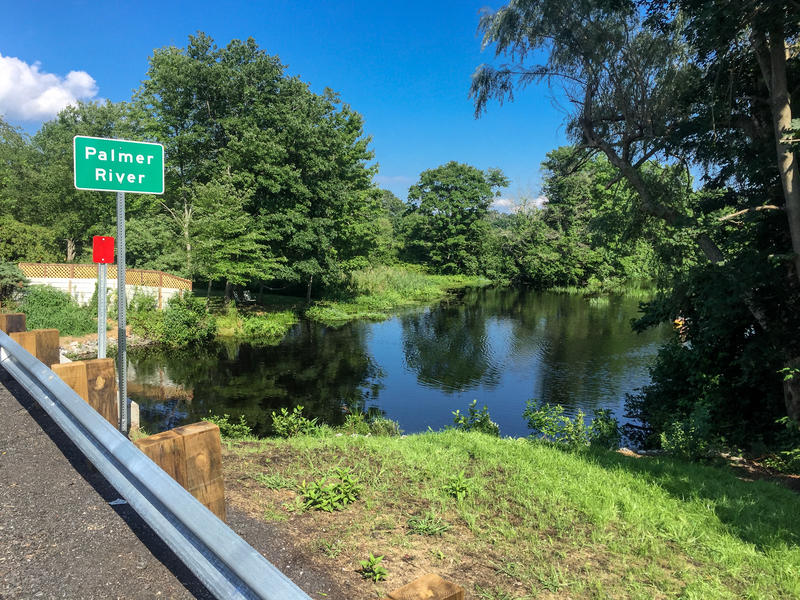 The Palmer River in Rehoboth, Massachusetts. The river, which also flows through Rhode Island, is one example of a coastal site in the Ocean State considered to be most resilient to climate change.