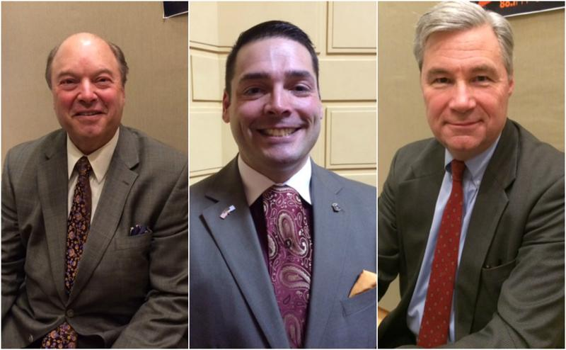 Flanders (left) hopes to take on Whitehouse, but he first faces a GOP primary with Nardolillo (center)