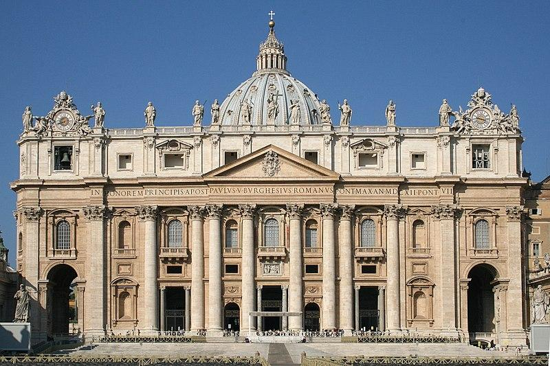 Façade of the St. Peter's Basilica in Vatican City where Law's funeral will be held.