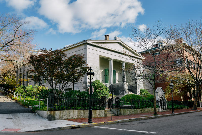 The Providence Athenaeum from Benefit Street