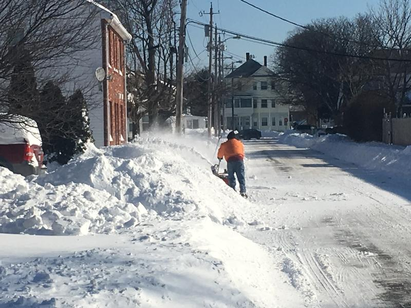 Post-snow storm in Pawtucket. The city got 16 inches of snow yesterday, according to the National Weather Service.