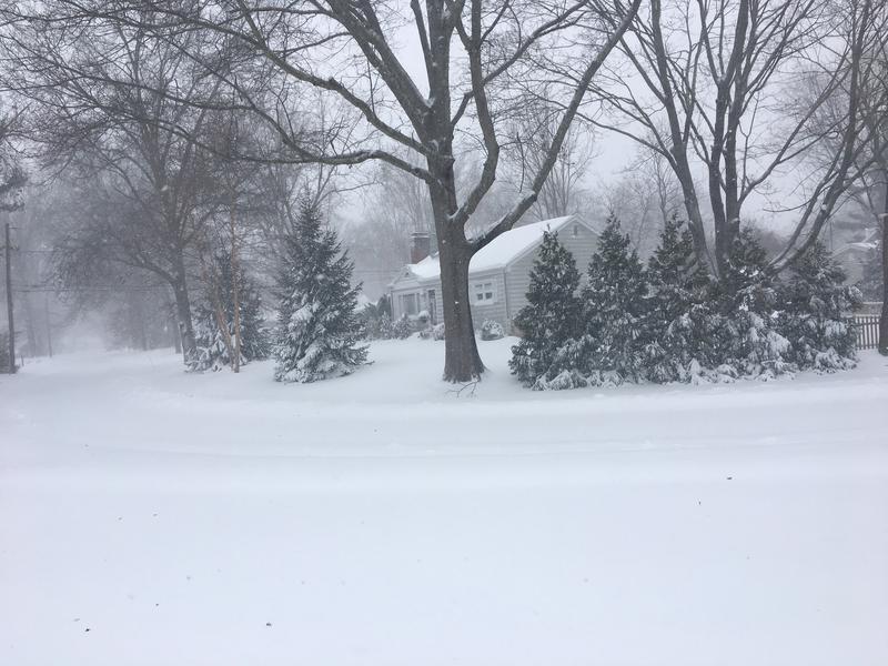 Snowfall in Barrington Thursday.