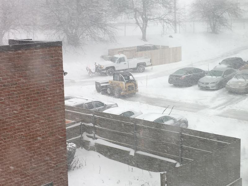 Plows at work in Providence.