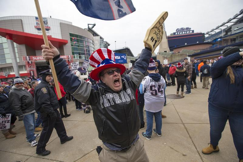 New England fans are ready to cheer on the Patriots on Super Bowl Sunday.