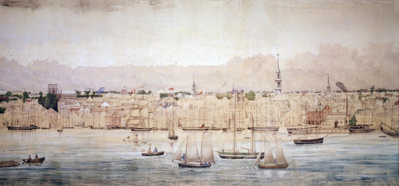 New Bedord Harbor, from Grand Panorama of a Whaling Voyage Round the World