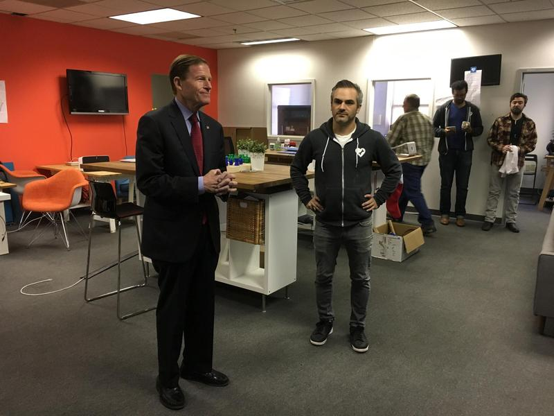 CT U.S. Senator Richard Blumenthal with SeeClickFix CEO Ben Berkowitz