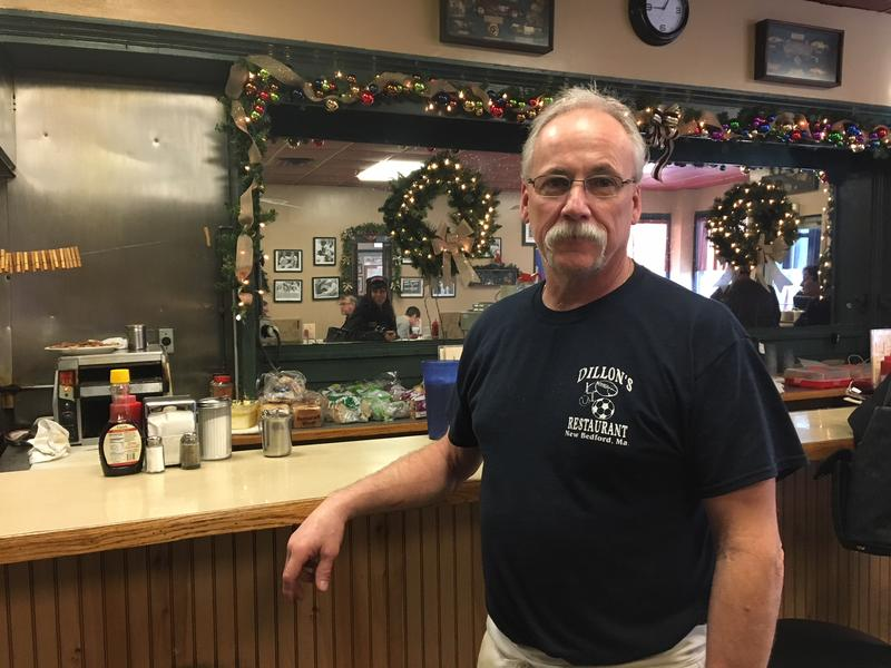 Andrew Dillon, owner of Dillon's restaurant in New Bedford, a favorite of local fishermen