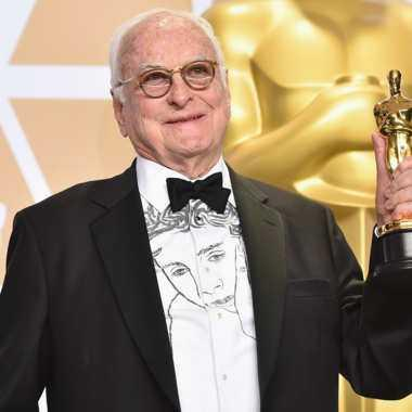 James Ivory, with his Oscar