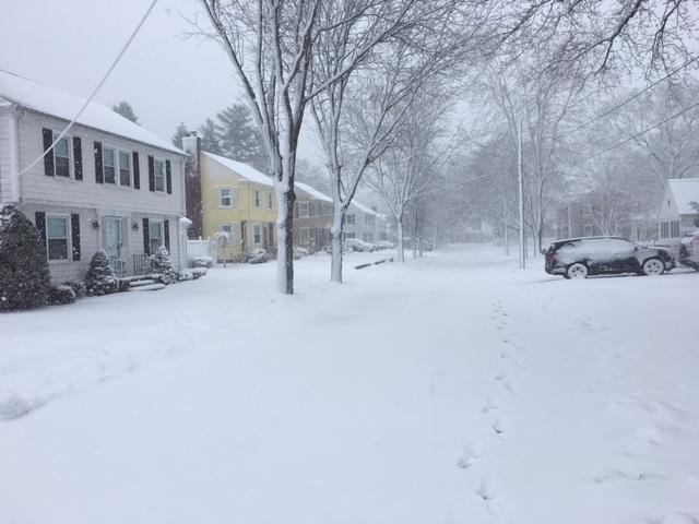 An unplowed street in East Providence.