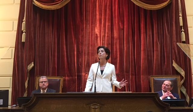 Gov. Raimondo during her State of the State address earlier this year.