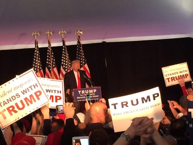 President Trump during a 2016 appearance in Warwick.
