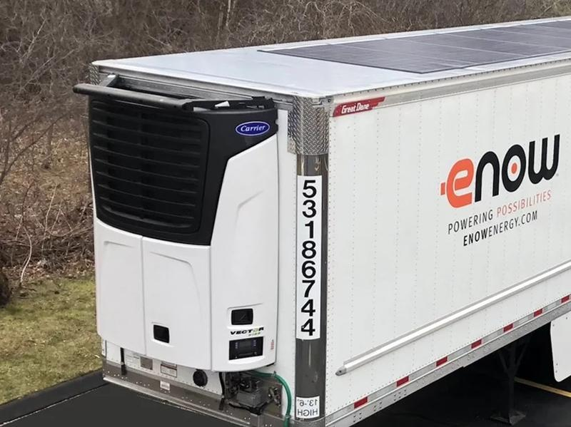 eNow all-electric reefer trailer.