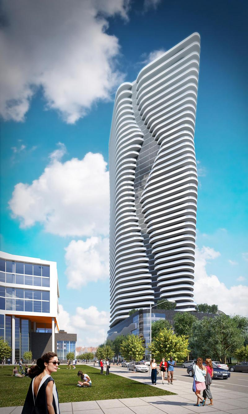 A rendering of the proposed Hope Point Tower was revealed at a City Planning Commission meeting last month.