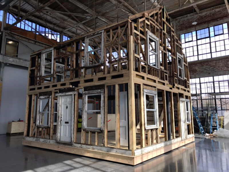 Rosa Parks House Project on display at WaterFire Arts Center in Providence, RI.