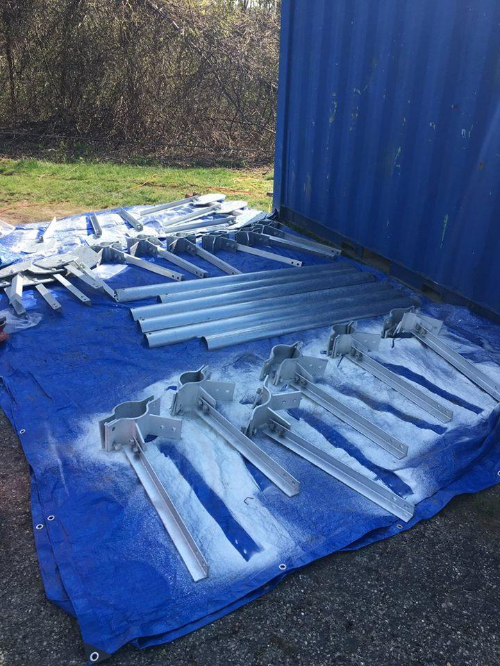 Just some of the steel reinforcement plates/brackets/etc before they were sanded, prepped and painted.