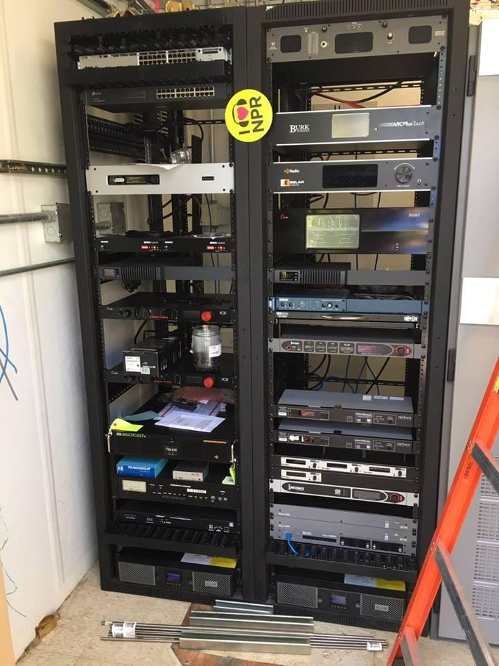 More and more stuff is loaded into the equipment racks!