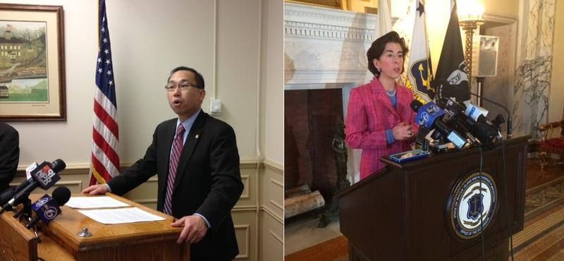 Allan Fung and Gina Raimondo