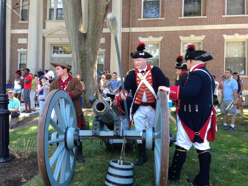 A historic 4th of July reenactment in Newport, one of many ways local residents mark Independence Day.