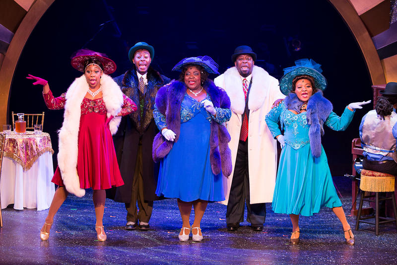 The cast of AIN'T MISBEHAVIN' The Fats Waller Musical Show playing at Theatre By The Sea thru June 17, 2018.