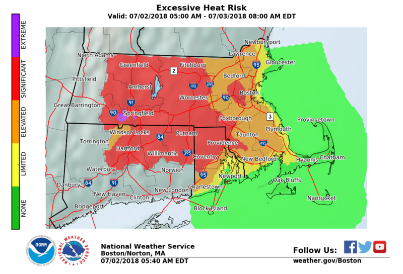 Excessive Heat Risk Advisory in effect for Rhode Island.