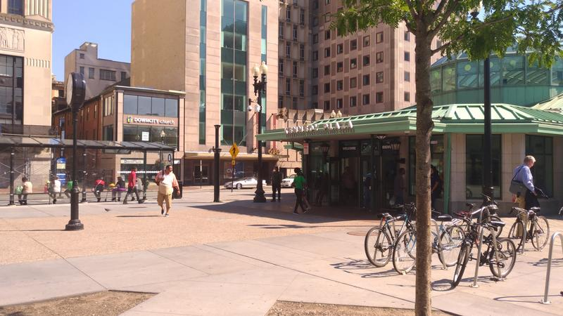 Kennedy Plaza in downtown Providence.