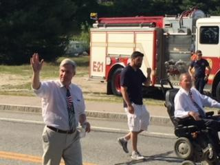 U.S. Senator Sheldon Whitehouse attended the Ancients and Horribles parade in Glocester.
