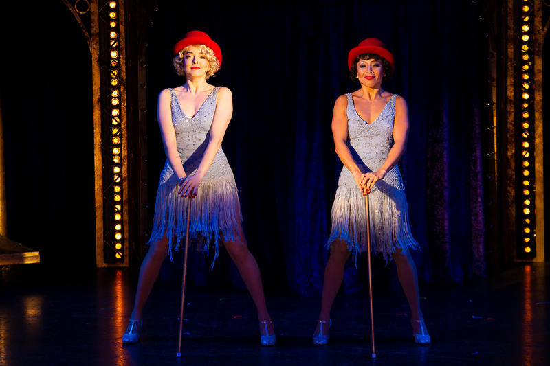 Jessica Wockenfuss (Roxie Hart) and Michelle Alves (Velma Kelly) in CHICAGO at Theatre By The Sea thru September 9