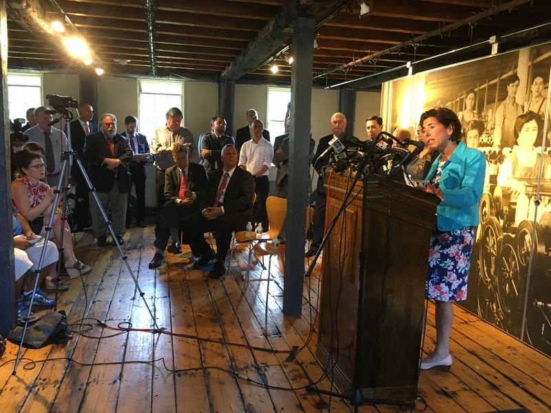 "Gov. Gina Raimondo said the state will ""double down"" on Pawtucket and the Blackstone Valley"
