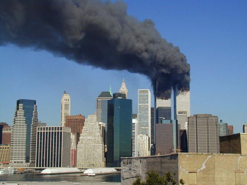 World Trade Center Smoking on September 11, 2001.