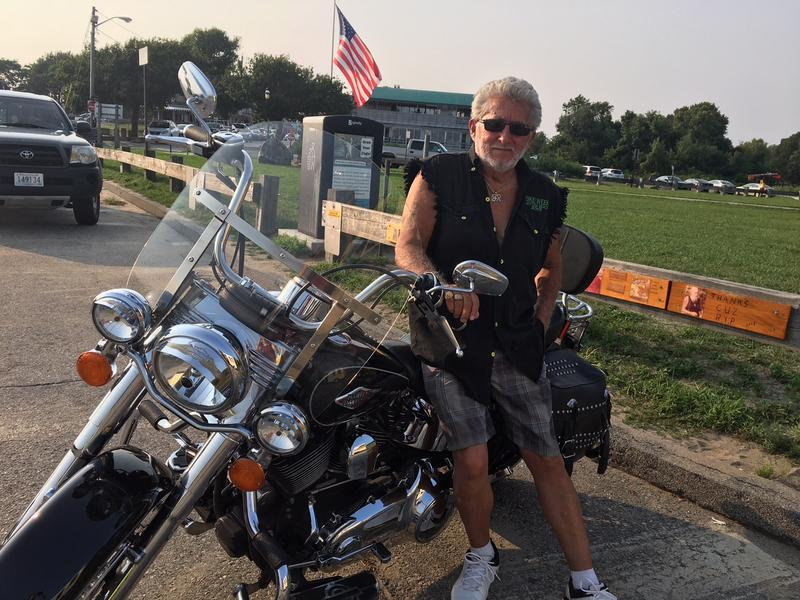 Harley rider John Rappa, an unafilliated voter, describes himself as a Trump supporter