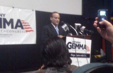 Anthony Gemma at the formal announcement of his congressional bid. Photo by Ian Donnis.