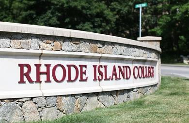 The entrance to Rhode Island College is pictured here. Photo by Alex Nunes.