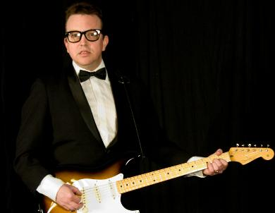Eric Fontana is pictured here playing Buddy Holly. Courtesy photo taken by Deb Stallwood.