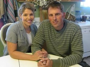 Randy Shepherd, 36, shown with his wife, Tiffany, was authorized by an Arizona state agency to receive a heart transplant. But now, because of budget cuts, the agency says it's unable to pay for the procedure. Ted Robbins/NPR.
