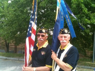 Tony Calise and Mike Masi of the Disabled American Veterans