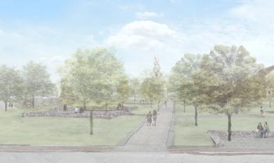 Drawing of what the park will look like.