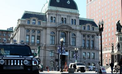Providence City Hall, where Mayor Angel Taveras first announced the city's financial woes back in March.