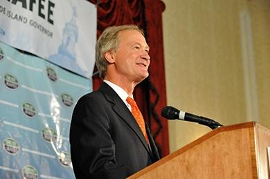 Governor Lincoln Chafee hopes to boost economic development.