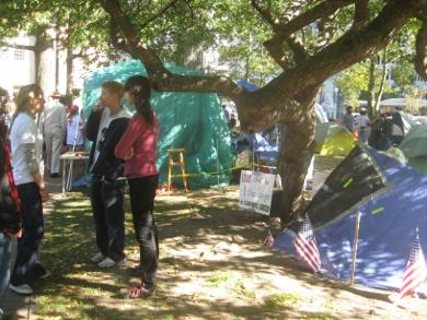 Occupy Providence set up camp in Burnside Park.