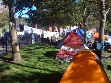 It's day seven of Occupy Providence and protesters are drying out after several rainy days.