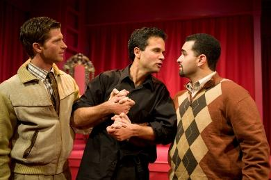 Joe Short (Guildenstern), Tony Estrella (Hamlet), Ben Gracia (Rosencrantz) star in Hamlet.