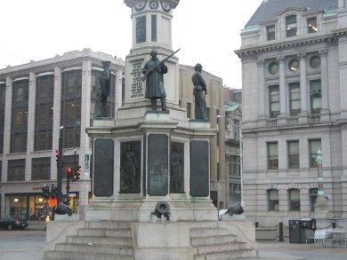 The Soldiers and Sailors Civil War monument in downtown Providence.