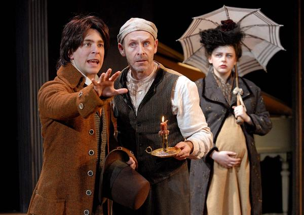 Andrew Iacovelli as Mozart, Ed Shea as Salieri and Valerie Westgate as Constanze