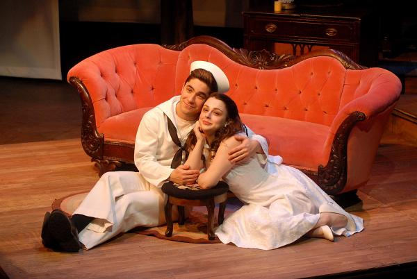 "Andrew Iacovelli as Jack and Valerie Westgate as Rosa in ""The Rose Tattoo"" at 2nd Story Theatre."