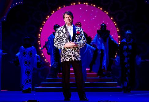 Peter Reardon (Georges) in Theatre By The Sea's production of La Cage Aux Folles.