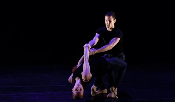 "Ruth Whitney and Alan Alberto in Boyko Dossev's ""Lovers' Song"" at Festival Ballet's ""Up Close."""