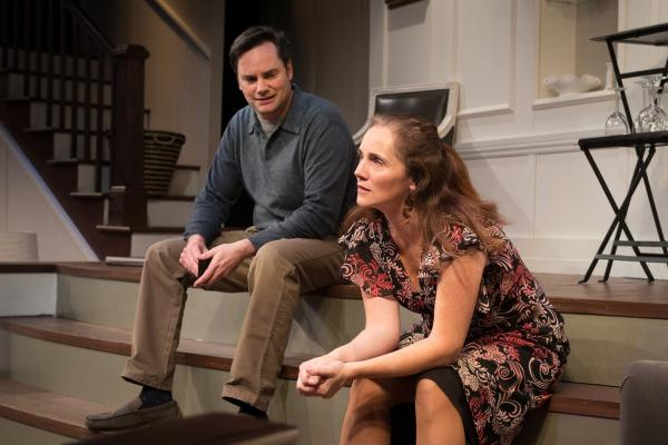 "Bill Mootos and Jeanine Kane in Gamm Theatre's ""Good People."""
