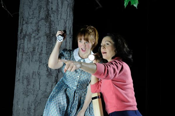 Jennifer Laine Williams and Angela Brazil in Veronica Meadows by Stephen Thorne showing at Trinity Rep.