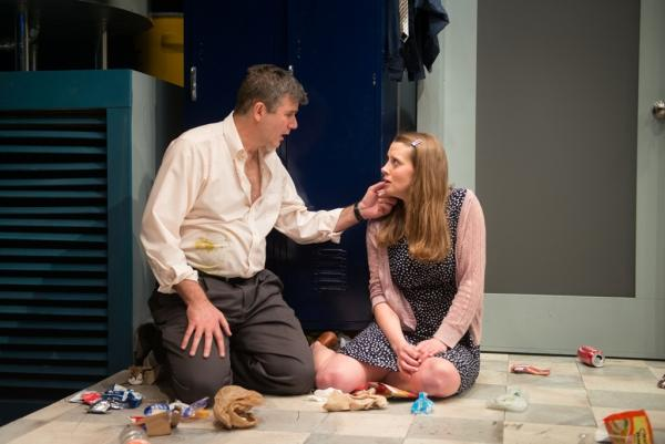 "Madeleine Lambert as Una, Jim O'Brien as Ray in ""Blackbird."""
